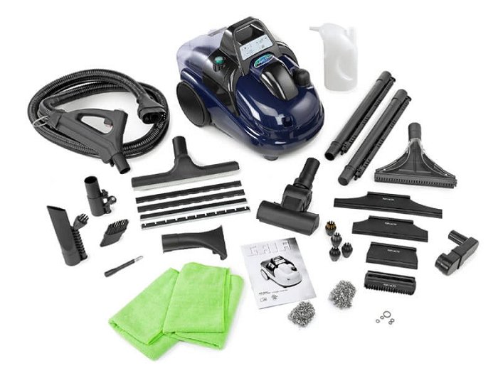 Gaia Steamer and Vacuum with Accessories