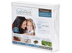 SafeRest Premium Hypoallergenic Waterproof Zippered Certified Bed Bug Proof Mattress Encasement (fits 9