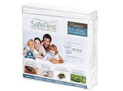 SafeRest Premium Hypoallergenic Waterproof Zippered Certified Bed Bug Proof Box Spring Encasement (fits up to 9