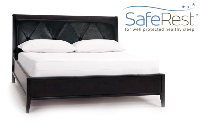 SafeRest Mattress Encasement on Bed