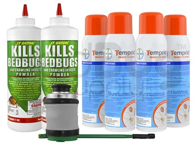 Express Professional Bed Bug Kit (3-4 rooms) with FREE 2-Day Express Shipping