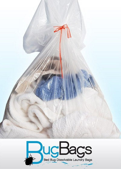 "Bug Bags Dissolvable Laundry Bags: Water Soluble (19"" x 22"") For Top Or Front Loading Washing Machines"