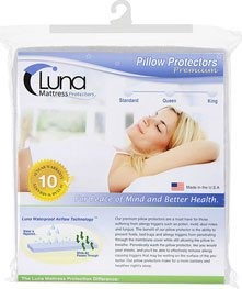 Luna Premium Hypoallergenic Bed Bug Waterproof Pillow Protector (sold individually)